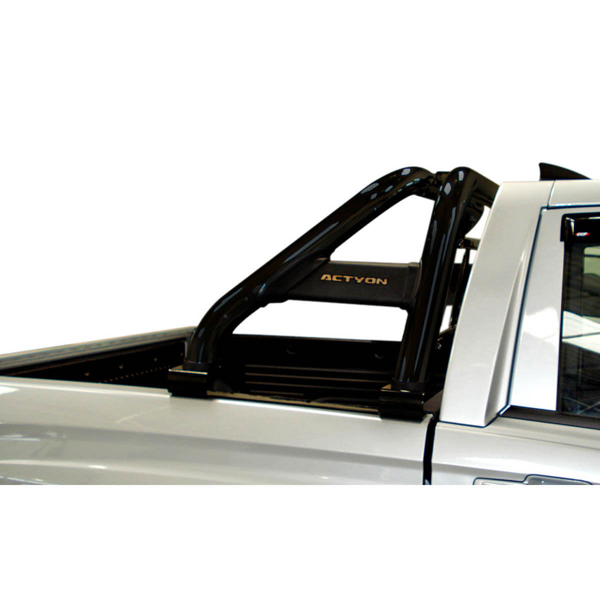 Santo antônio duplo preto Actyon Sports 2007 a 2015 com barras de vidro