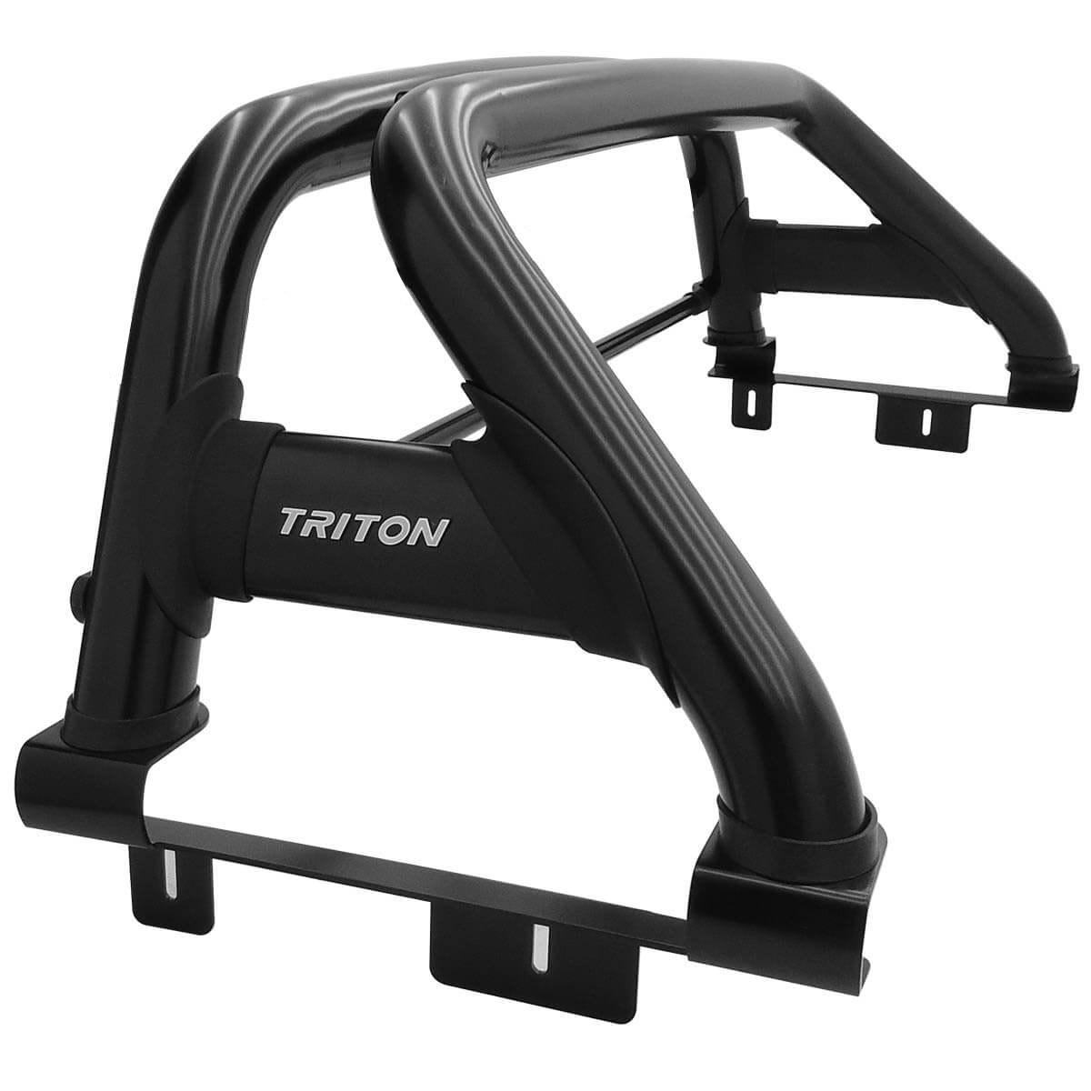 Santo antônio duplo preto L200 Triton Sport 2017 a 2020 e L200 Triton Outdoor 2021 com barra de vidro