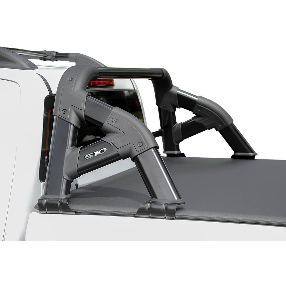 Santo antônio Solar Exclusive preto Nova S10 cabine dupla 2012 a 2022 com barra de vidro