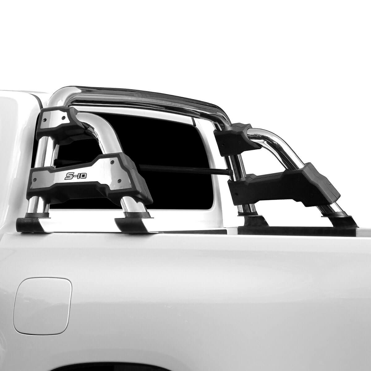 Santo antonio STR cromado Nova S10 cabine dupla 2012 a 2021 com barra