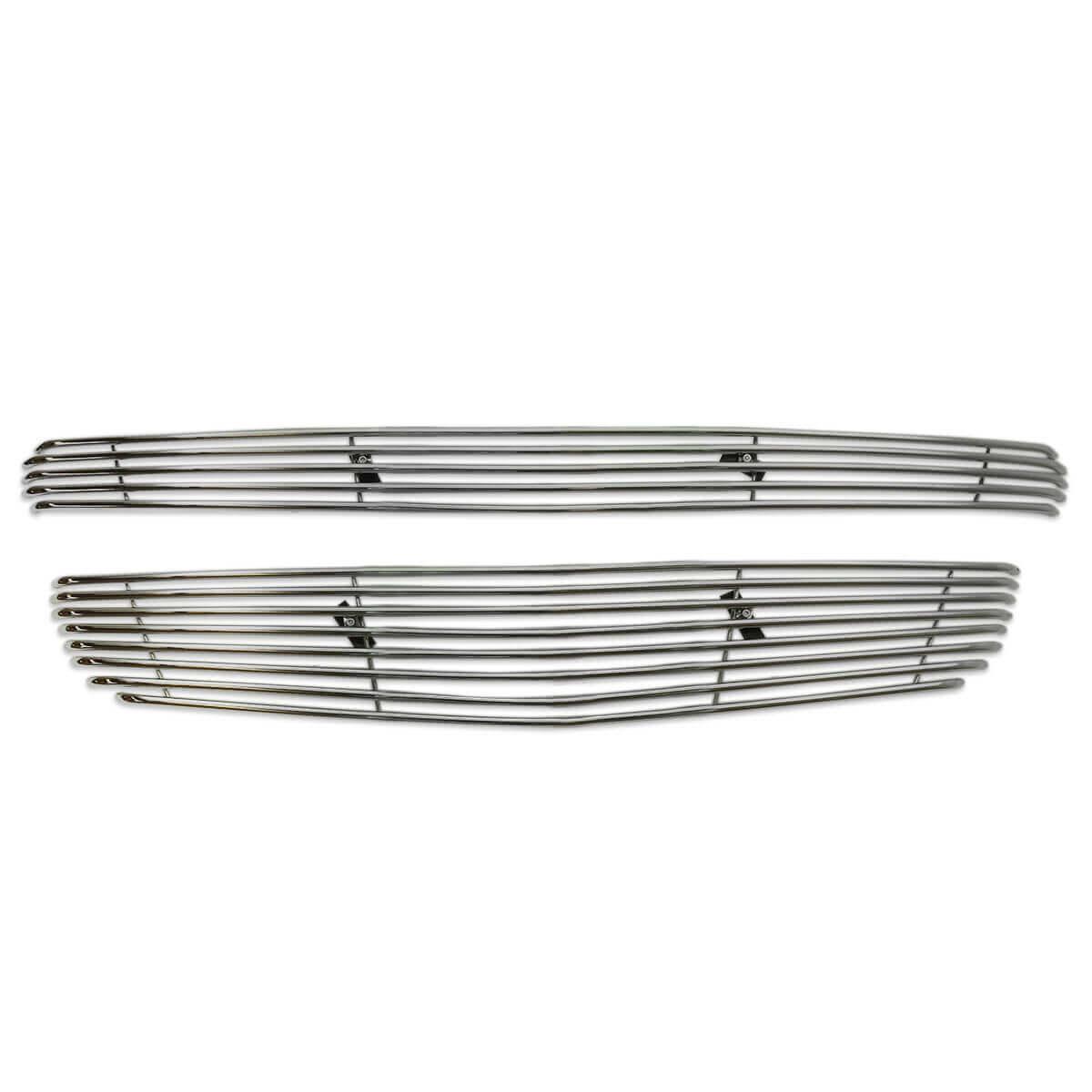 Sobre grade filetada em aço inox S10 2012 a 2016 - kit 2 peças