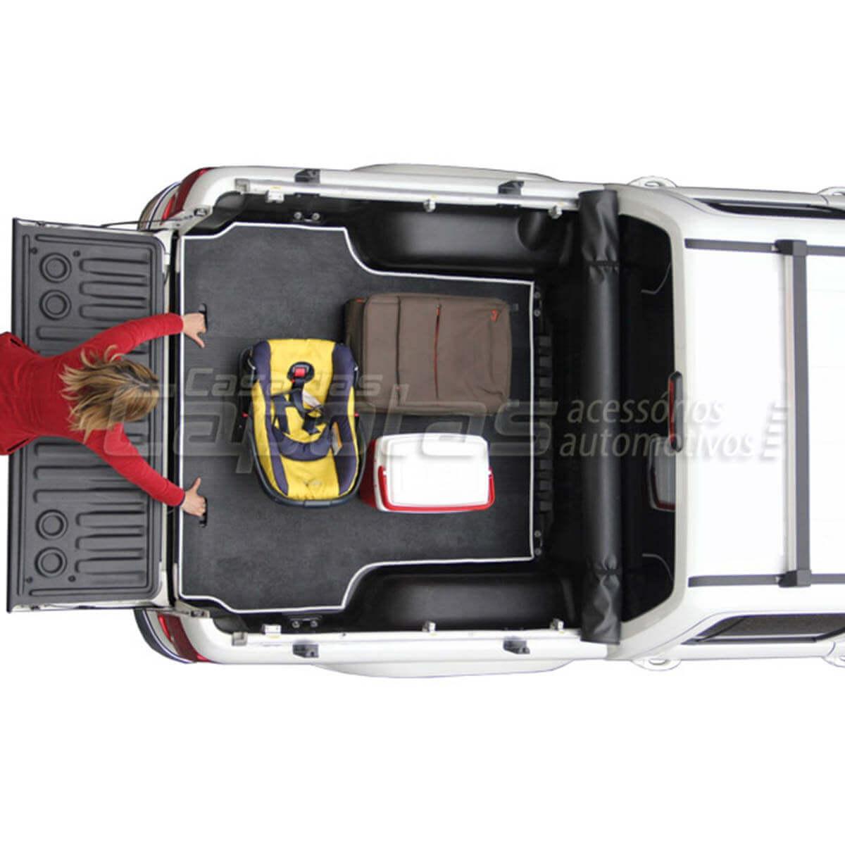 Tapete caçamba borracha L200 Triton 2008 a 2016 HPE HLS Outdoor AT Diesel Outdoor FLEX