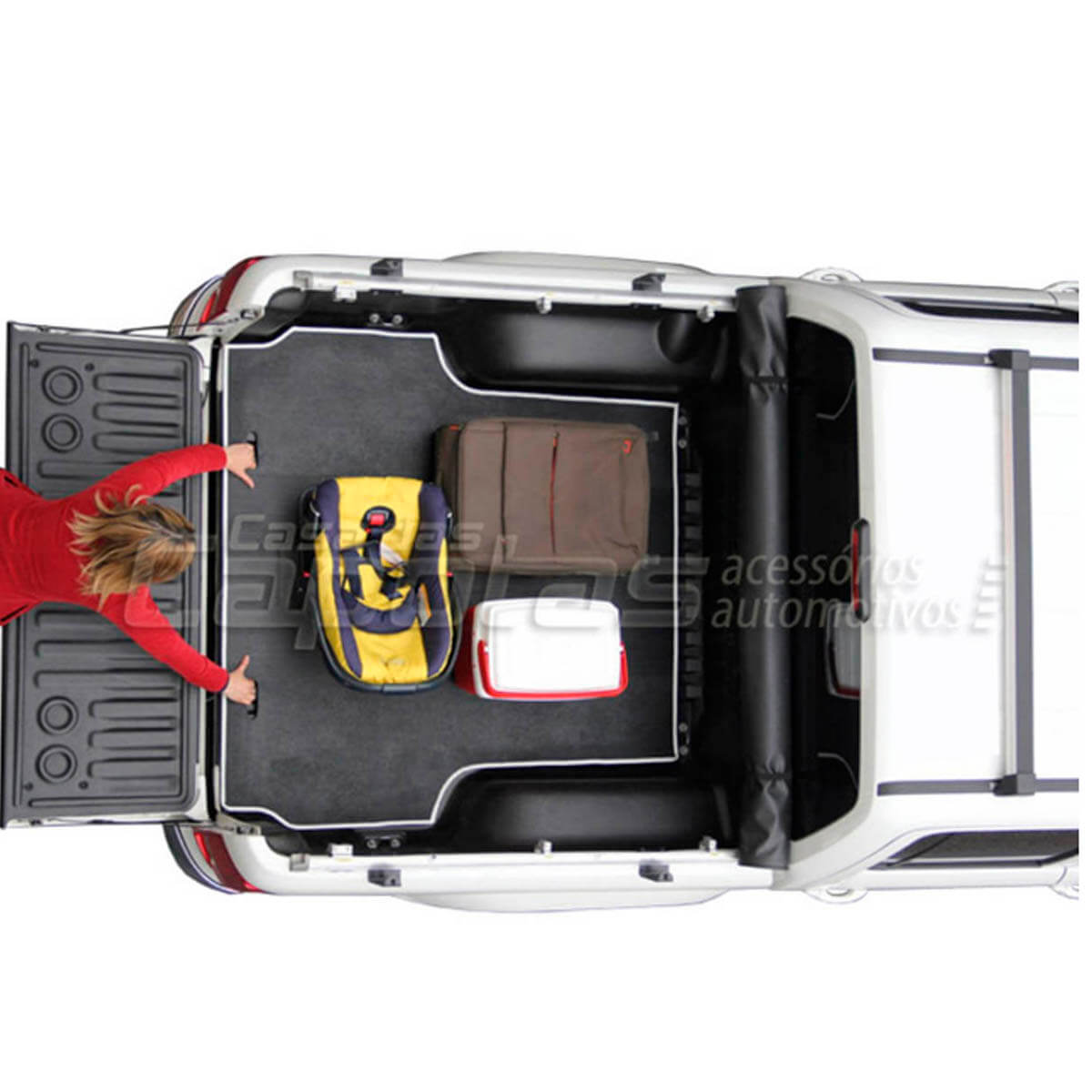 Tapete caçamba borracha L200 Triton 2012 a 2016 XB GL GLS GLX Outdoor MT Diesel