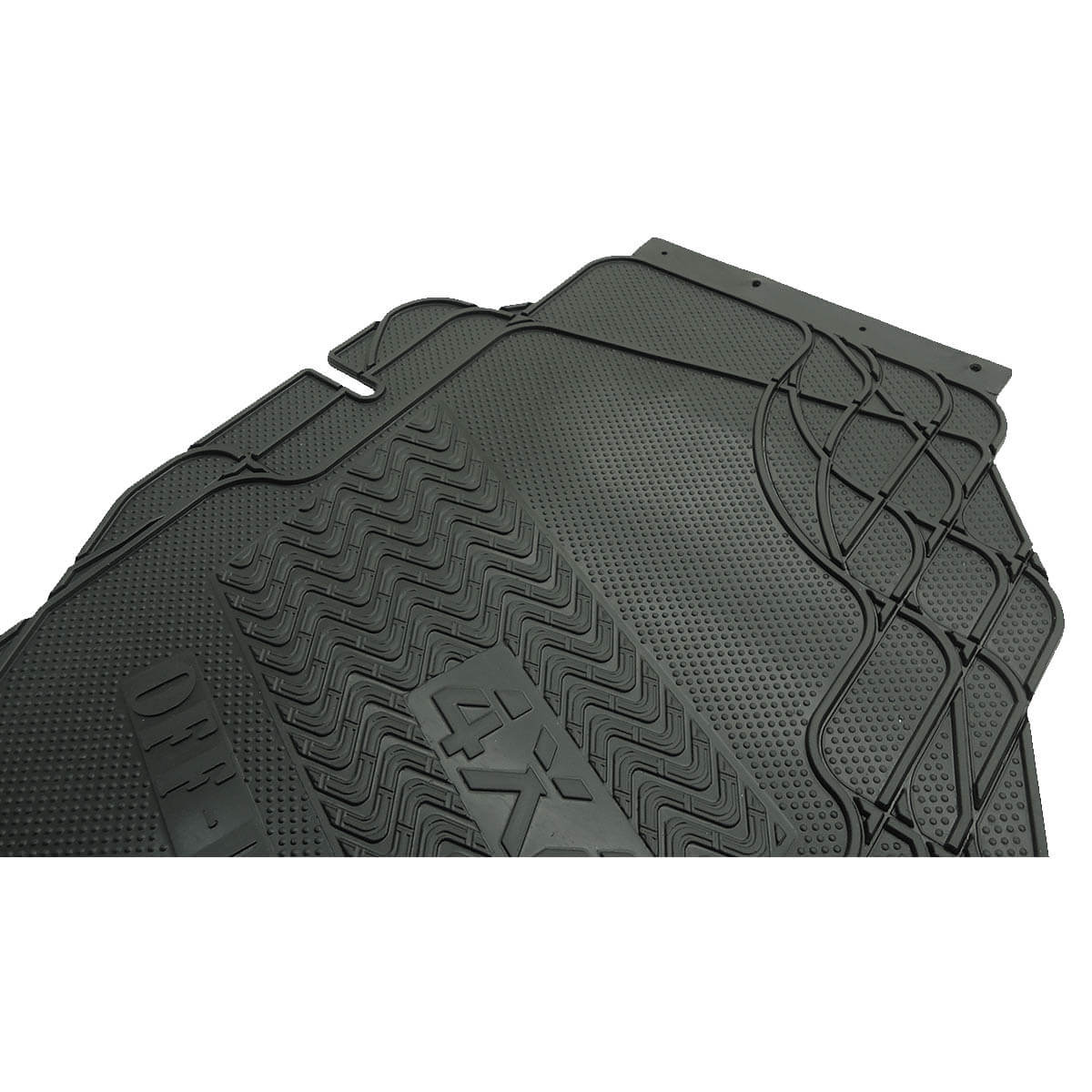 Tapete borracha PVC virgem Amarok cabine dupla 2011 a 2020