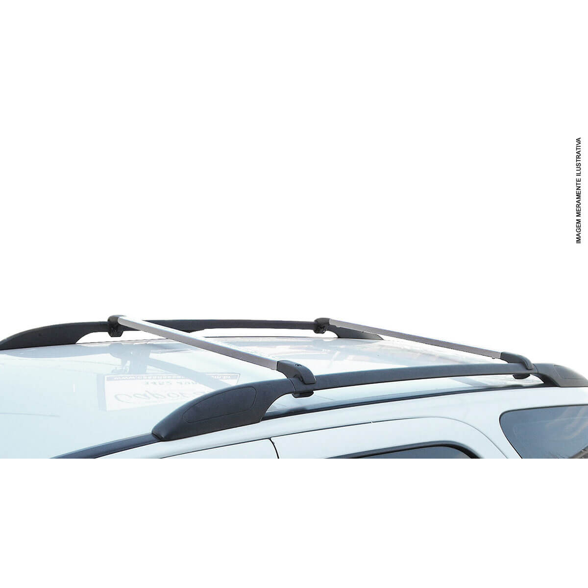 Travessa rack de teto alumínio Fiat Mobi Way 2017 a 2021