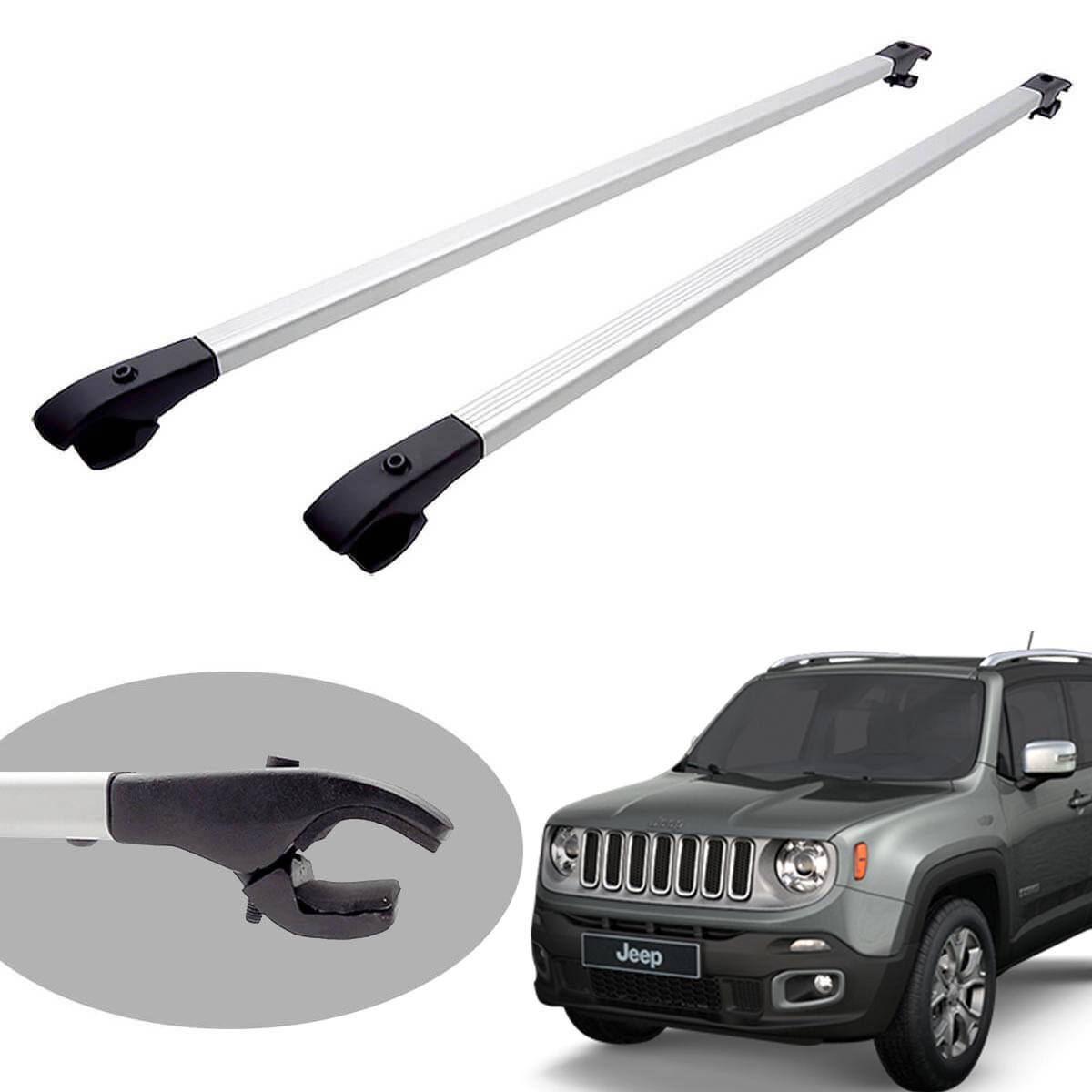 Travessa rack de teto alumínio Jeep Renegade 2016 2017 2018 2019
