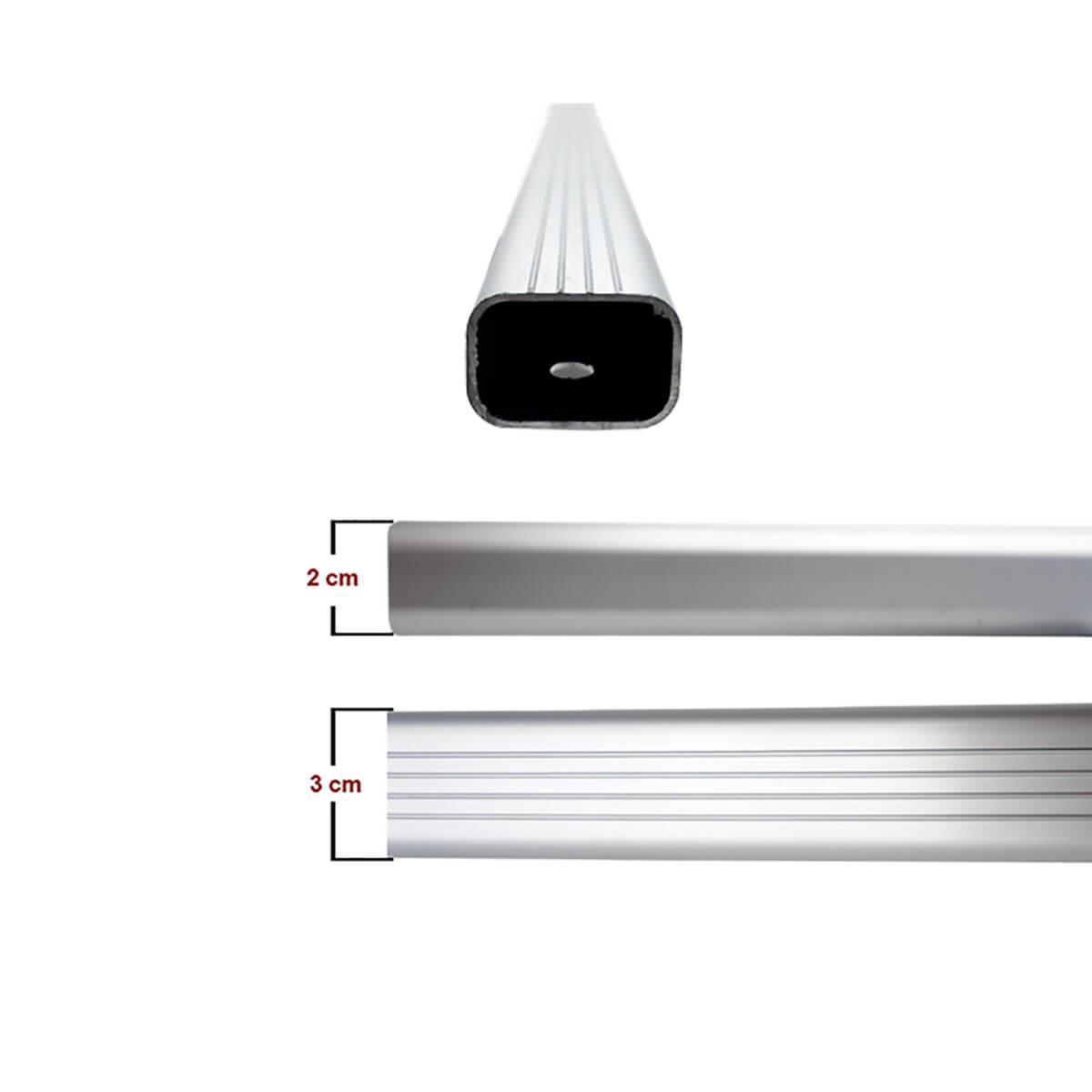 Travessa rack de teto alumínio Tracker 2014 a 2019