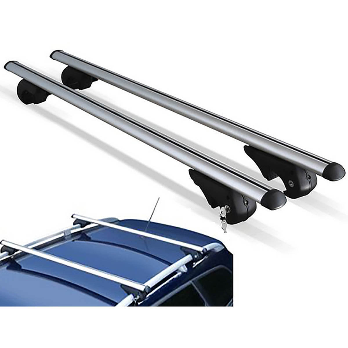 Travessa rack de teto Belluno Kiussi com chave I30 CW 2011 e 2012