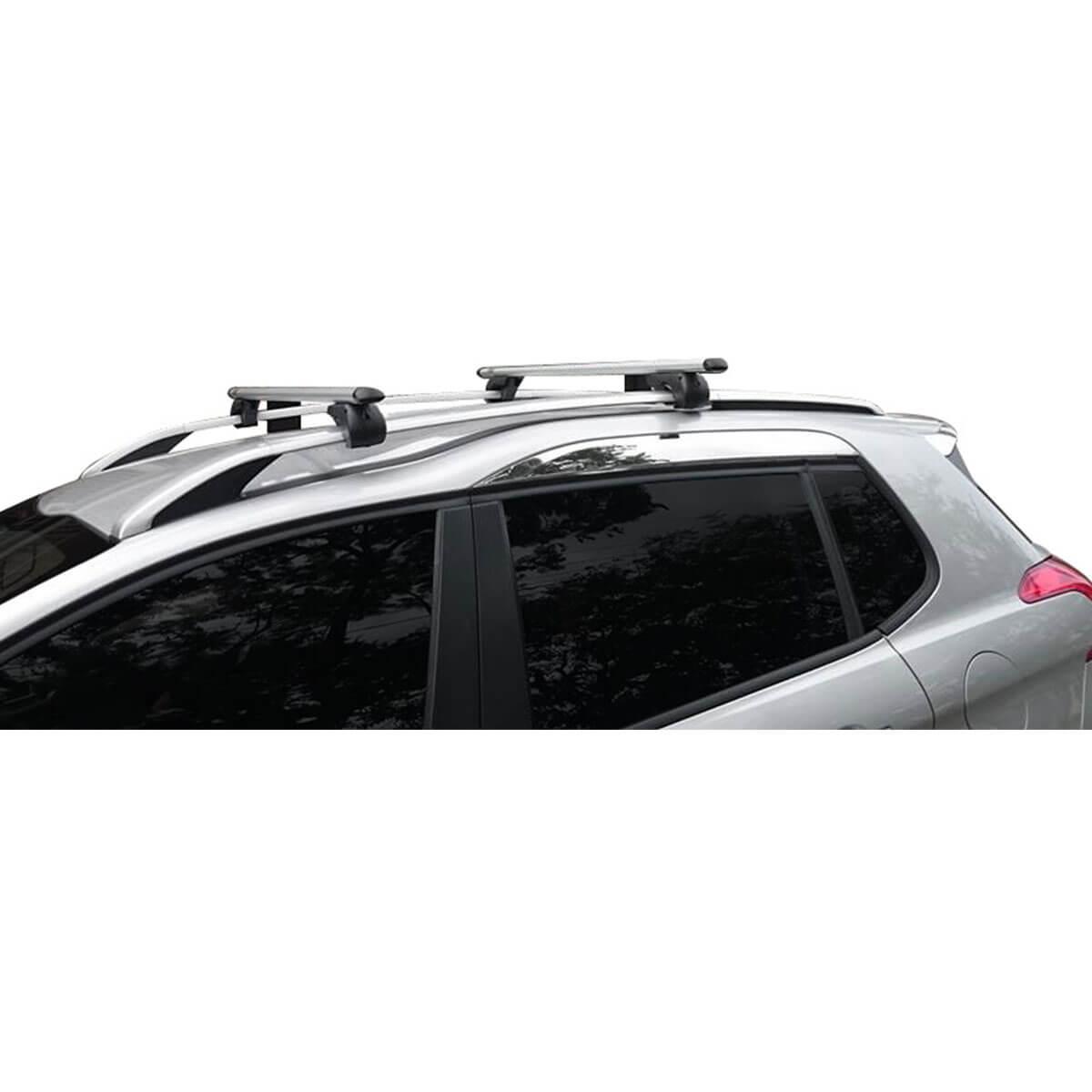 Travessa rack de teto Belluno Kiussi com chave Peugeot 2008 modelo 2016 a 2020