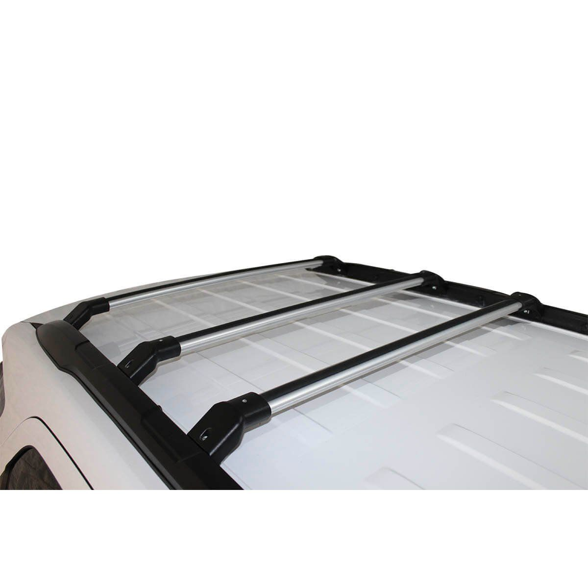 Travessa rack de teto Ecosport 2013 a 2021 kit 3 peças larga anodizada