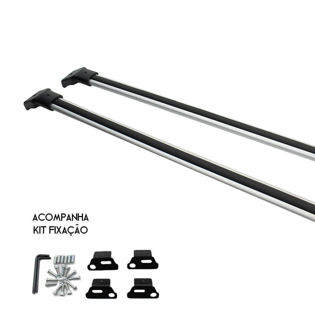 Travessa rack de teto larga anodizada Ecosport 2013 a 2021