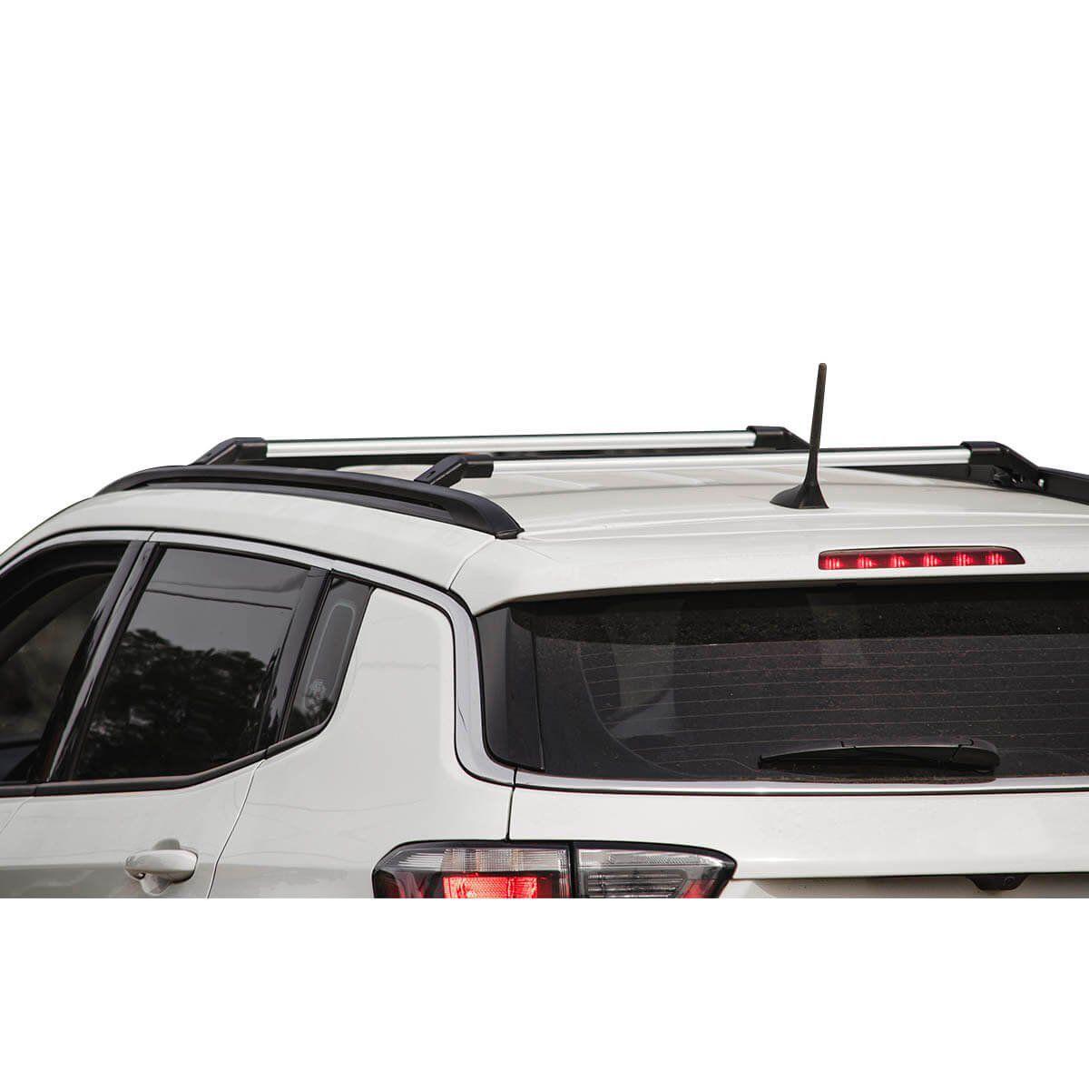Travessa rack de teto Jeep Compass 2017 a 2021 larga anodizada