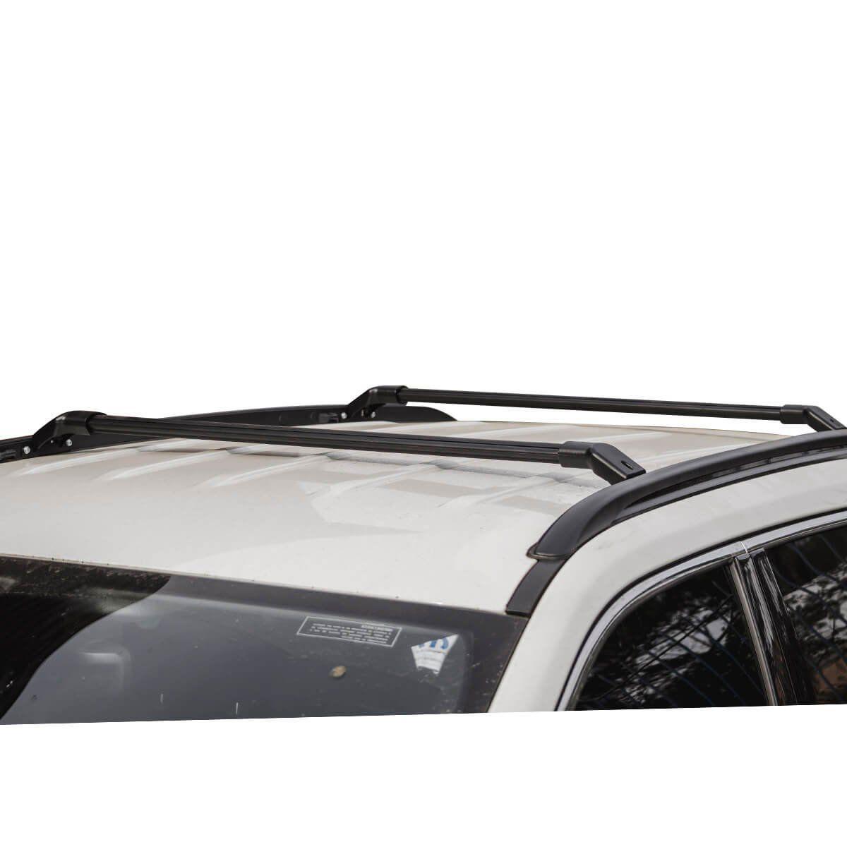 Travessa rack de teto larga preta Jeep Compass 2017 a 2021