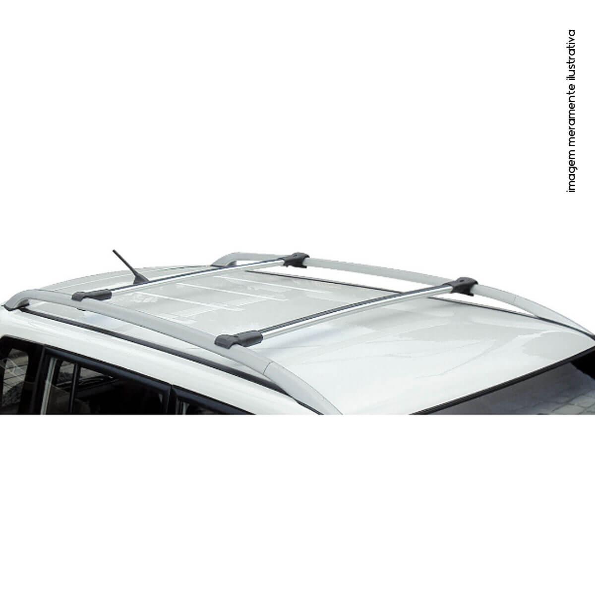 Travessa rack de teto larga alumínio Nova S10 cabine dupla 2012 a 2020