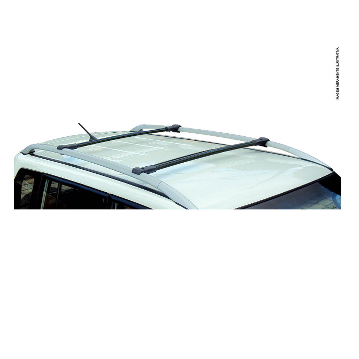 Travessa rack de teto larga preta alumínio Nova S10 cabine dupla 2012 a 2021