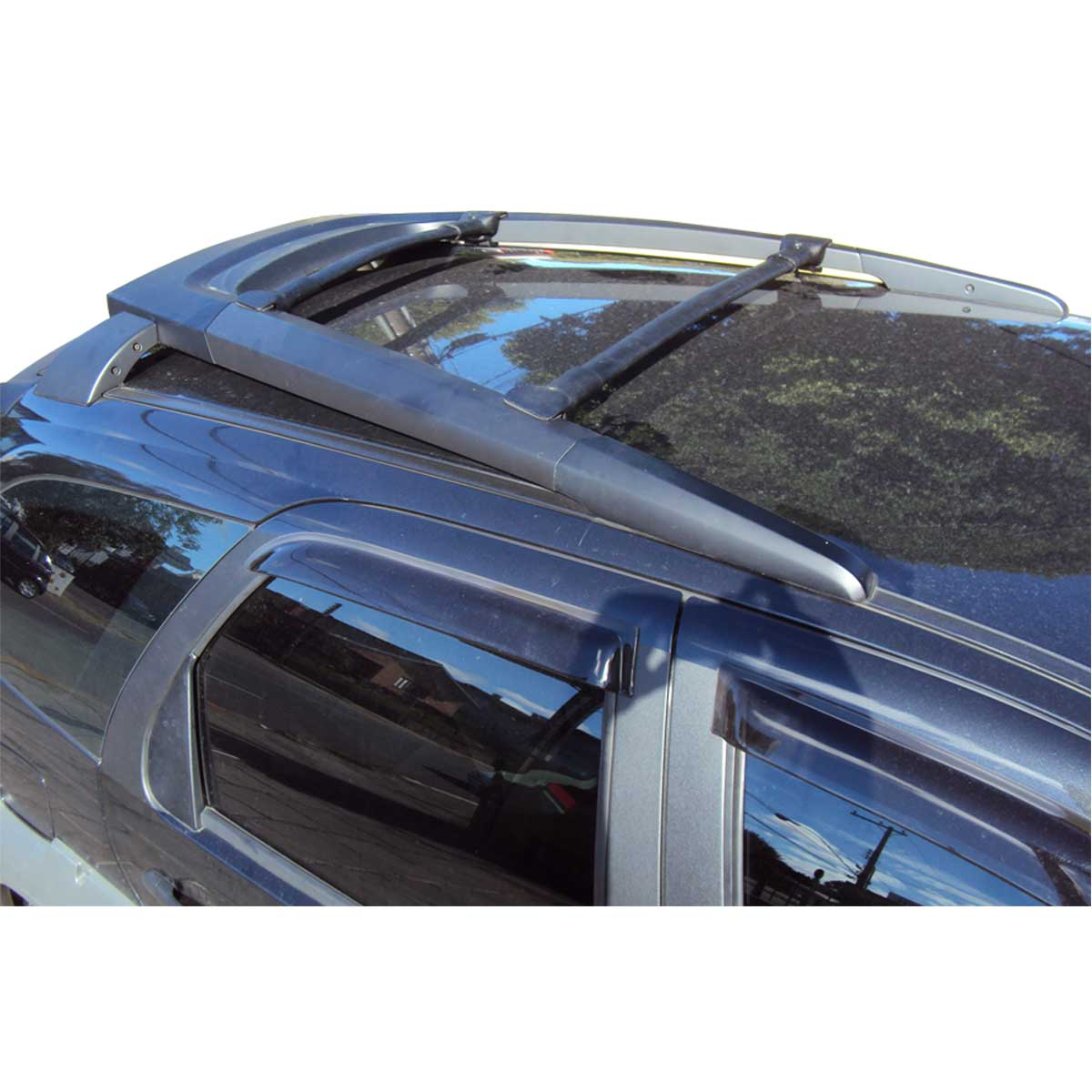 Travessa rack de teto larga preta alumínio Strada Adventure 2009 a 2020