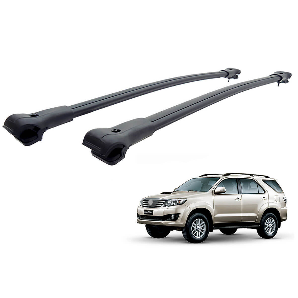 Travessa rack de teto larga preta alumínio SW4 2005 a 2015