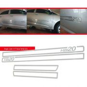 Jogo Friso Lateral Resinado Vazado Hyundai Hb20 - Cromado