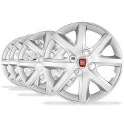Jogo Calota Aro 14 Siena El 1.4 2014 Emblema Fiat