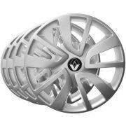 Jogo Calota Aro 15 Sandero Logan Symbol Emblema Renault