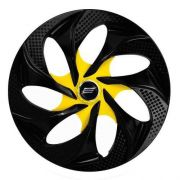Calota Aro 14 Tuning Evolution Black Yellow Vw Ford Gm