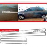 - Jogo Friso Lateral Resinado Vazado Toyota Corolla - Cromado