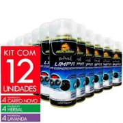 Kit 12 Limpa Ar Condicionado Spray Autoshine 250ml Mix