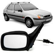 Espelho Retrovisor Fiesta 1996 2002 Controle Manual Esquerdo
