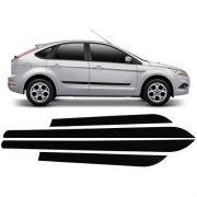 Jogo Friso Lateral Borrachão Ford Focus 4 Portas Sem Escrita