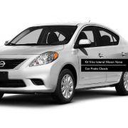Jogo Friso Lateral Pintado Nissan Versa Prata