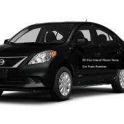 Jogo Friso Lateral Pintado Nissan Versa Preto