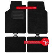 Tapete Carpete Universal 4pçs Vw Fiat Gm Ford Hond Preto