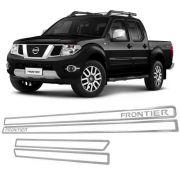 Jogo Friso Lateral Resinado Vazado Nissan Frontier - Cromado