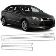 Jogo Friso Lateral Resinado Vazado Ford Novo Focus - Cromado