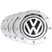 Jogo Calota Centro Roda Audi Rs4 Cromado Emb Vw