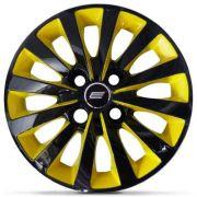 Calota Aro 13 Tuning Passat CC 4 Furos CB Yellow + Emblema