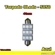 Lâmpada Led Torpedo 41mm Branco Azul 9 Leds 5050 - Diadema