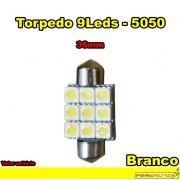 Lâmpada Led Torpedo 36mm Branco 9 Leds LED 5050 - Diadema