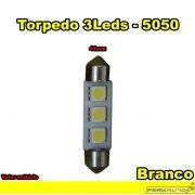 Lâmpada Led Torpedo 41mm Branco 3 Leds LED 5050 - Diadema