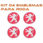 Kit Emblema Roda 48mm Resinado Vw Gm Peugeot