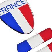 Adesivo Resinado Bandeira França Renault Citroen Peugeot 3pç