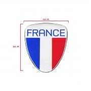 Kit Adesivo Resinado Coluna Escudo Bandeira França 4pçs