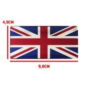 Adesivo Resinado Bandeira Land Rover Reino Unido Inglaterra