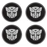 Adesivo Resinado Calota Roda 45mm Transformers Autobots 4pçs