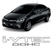 Adesivo Tuning Lateral Civic I-vtec Dohc- Logo Cinza