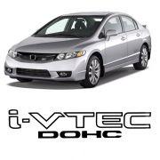 Adesivo Tuning Lateral Civic I-vtec Dohc - Logo Preto