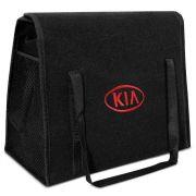 Bolsa Ferramentas Carpete Preto Velcro - Emblema Kia