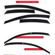 Calha De Chuva Acrilica Focus Hatch Sedan 10 A 13 - 4 Portas