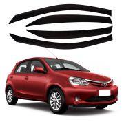 Calha de Chuva Defletor Toyota Etios 4 portas - Diadema