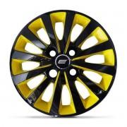 Calota Aro 13 Tuning Passat CC 4 Furos CA Yellow + Emblema